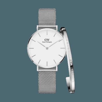 女士手表,女士腕表,女表,女士手表品牌,手表女款,手表女士,女款手表哪个牌子好,女表品牌,送女朋友什么礼物好, Petite Sterling+Bracelet Silver