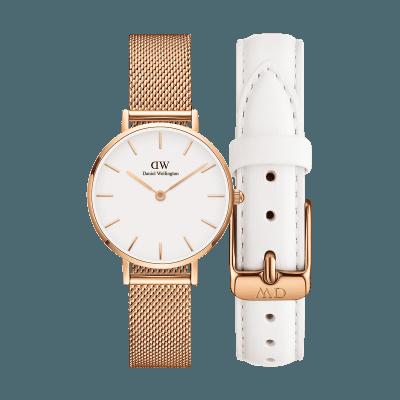 手表品牌排行榜,手表品牌,手表哪个牌子好,情侣表,生日礼物,情人节礼物,品牌手表,腕表之家,石英手表,时尚手表,潮流手表,情侣手表,情侣对表, Bundle W+S  Petite Melrose 28mm RG +Bondi 12mm
