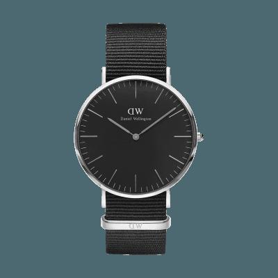 手表品牌排行榜,手表品牌,手表哪个牌子好,情侣表,生日礼物,情人节礼物,品牌手表,腕表之家,石英手表,时尚手表,潮流手表,情侣手表,情侣对表, W Classic Black Cornwall Silver 40mm