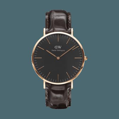 手表品牌排行榜,手表品牌,手表哪个牌子好,情侣表,生日礼物,情人节礼物,品牌手表,腕表之家,石英手表,时尚手表,潮流手表,情侣手表,情侣对表, W Classic Black York RG 40mm