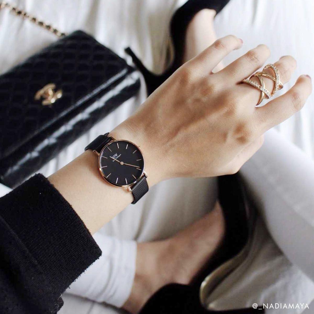 dw官网 dw手表官网 dw中国官网 dw官方旗舰店 DW DW官网  Bundle W+B Petite Black Ashfield RG 32mm+Classic Bracelet White RG S
