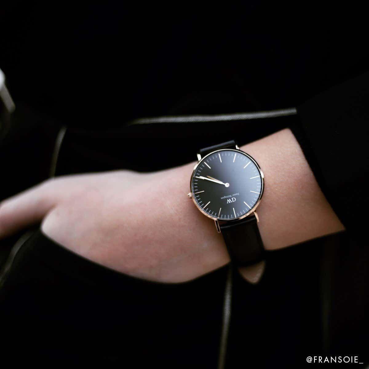 dw官网 dw手表官网 dw中国官网 dw官方旗舰店 DW DW官网  Bundle W+B Classic Black Black Sheffield RG 36mm+Classic Bracelet White RG S