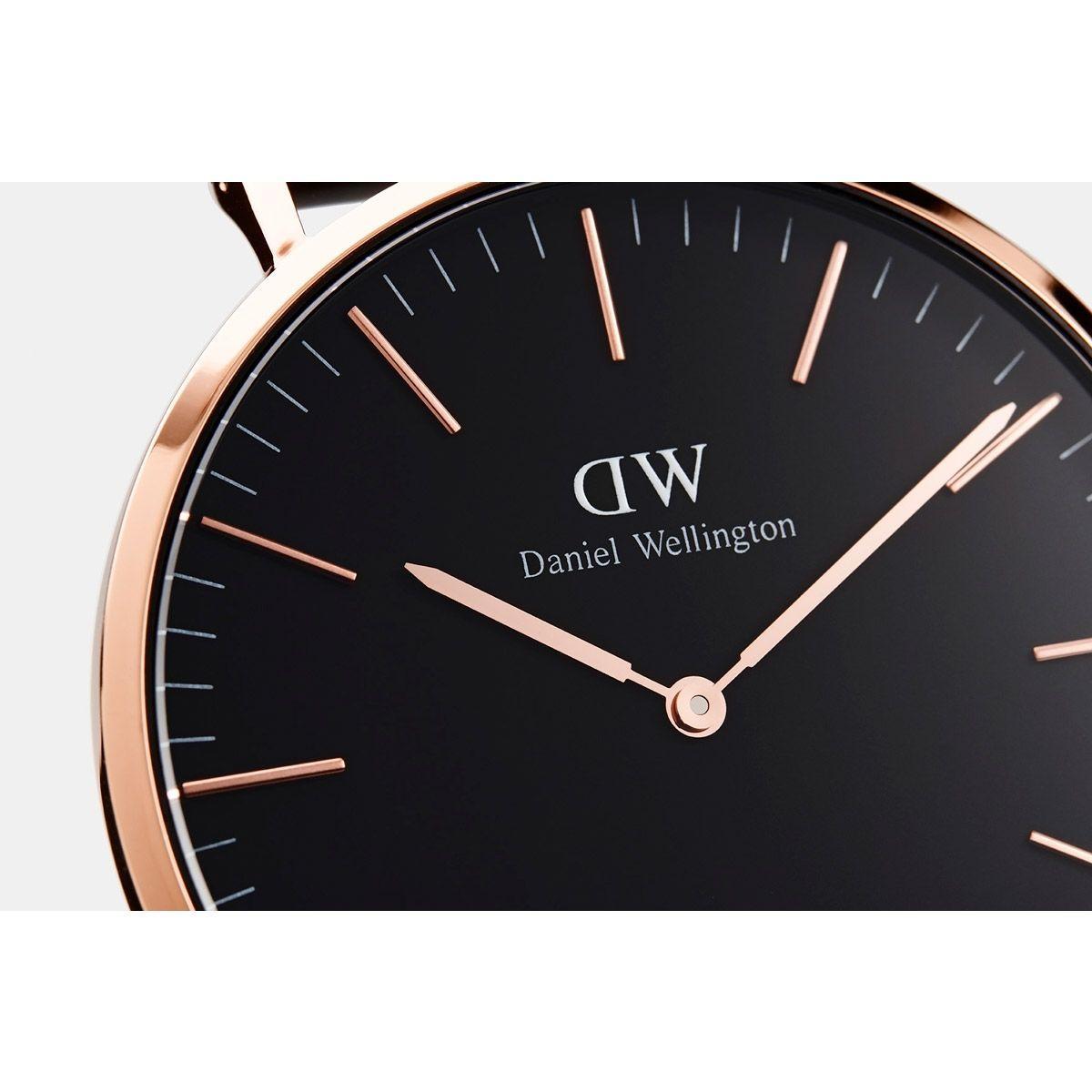 dw官网 dw手表官网 dw中国官网 dw官方旗舰店 DW DW官网  W Classic Black Cornwall RG 40mm
