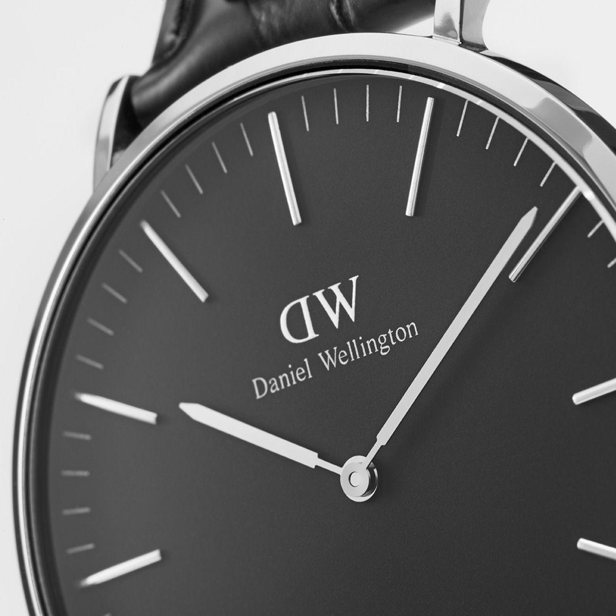 dw官网 dw手表官网 dw中国官网 dw官方旗舰店 DW DW官网  W Classic Black Bayswater Silver 40mm