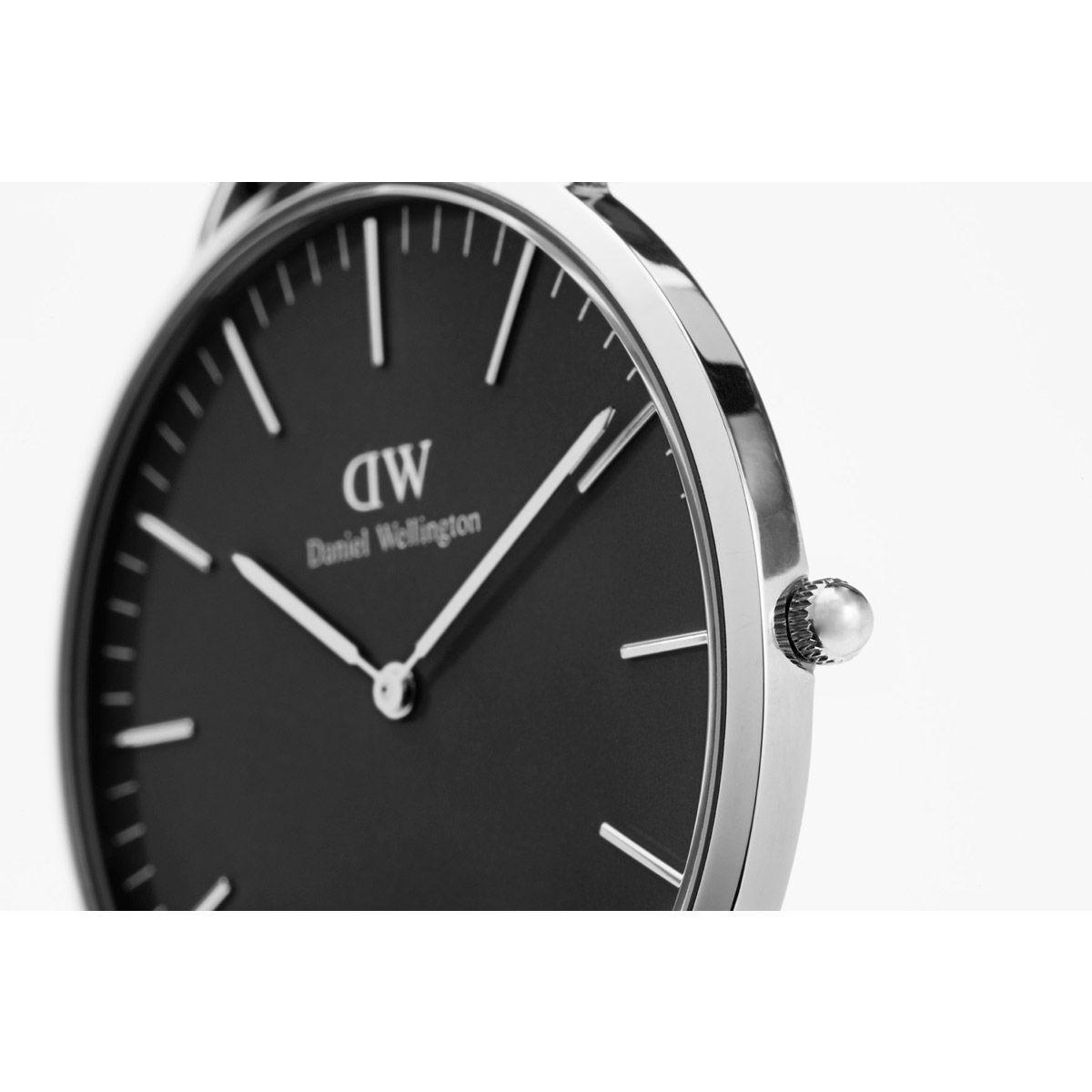 dw官网 dw手表官网 dw中国官网 dw官方旗舰店 DW DW官网  W Classic Black Sheffield Silver 40mm