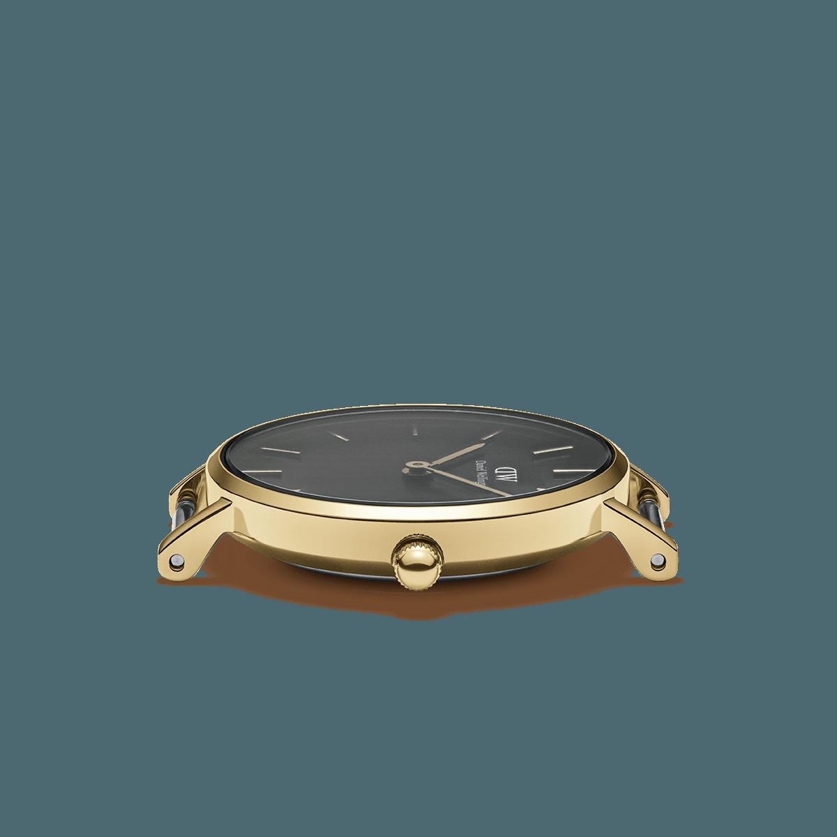 dw官网 dw手表官网 dw中国官网 dw官方旗舰店 DW DW官网  Watch Petite Black Evergold Gold 32mm