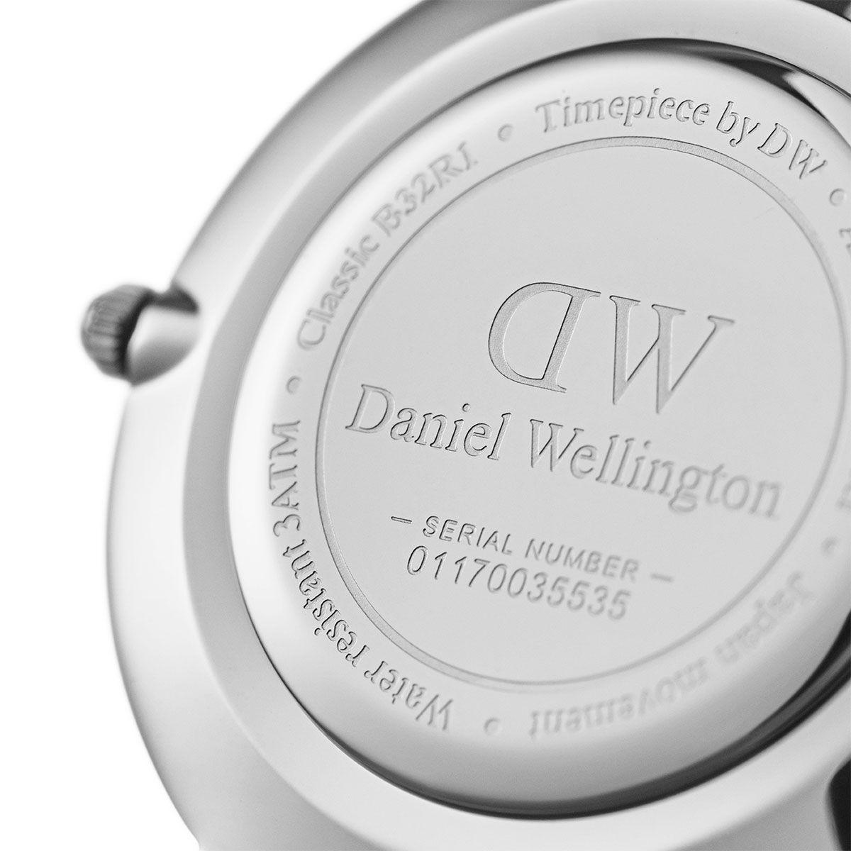 dw官网 dw手表官网 dw中国官网 dw官方旗舰店 DW DW官网  Bundle W+B Petite Black Sterling Silver 36mm+Bracelet Silver L